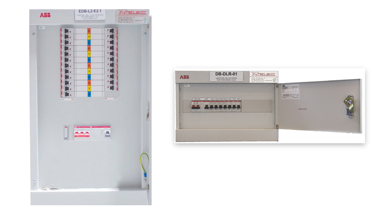 INTELEC - Intelligence on Safe Power Final Distribution Boards top features
